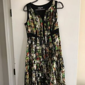 Dresses & Skirts - Black and green patterned dress